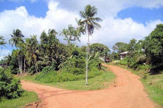 Guyane Le Centre Ville Du Village De Maripasoula A L Extreme Ouest Du Pays Est Compose Simplement De 2 Chemins De T Amerique Du Sud Guyane Francaise France