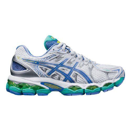 ASICS Women's Gel-Nimbus 16 Running Shoe,White/Periwinkle/Mint,8
