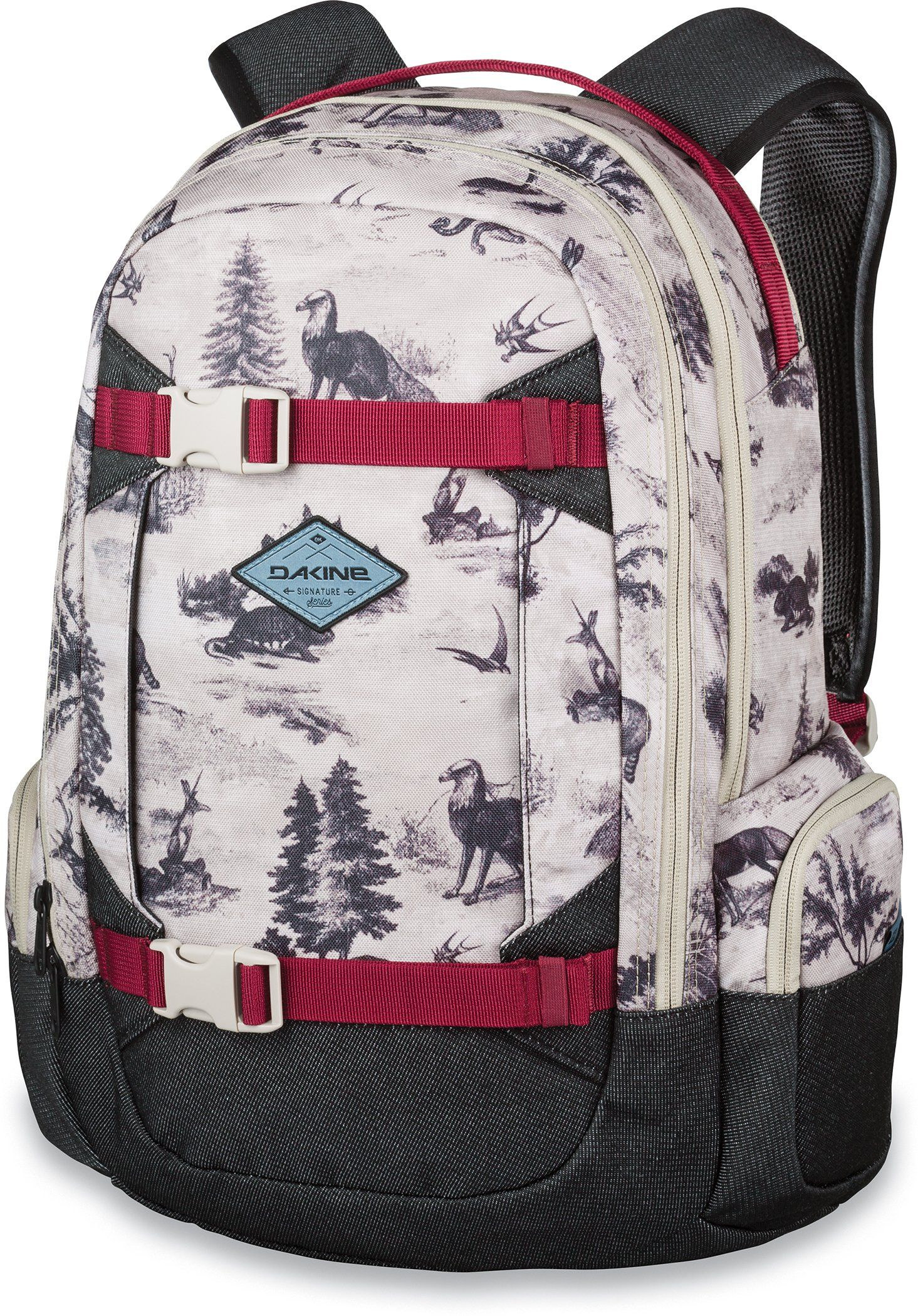 Dakine Backpacks - Dakine Team Mission 25L Backpack - Annie Boulanger.  Women s specific fit. Vertical board carry straps. Fits most 15