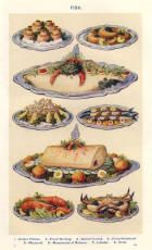 Colour Food Plate of Dressed Fish.