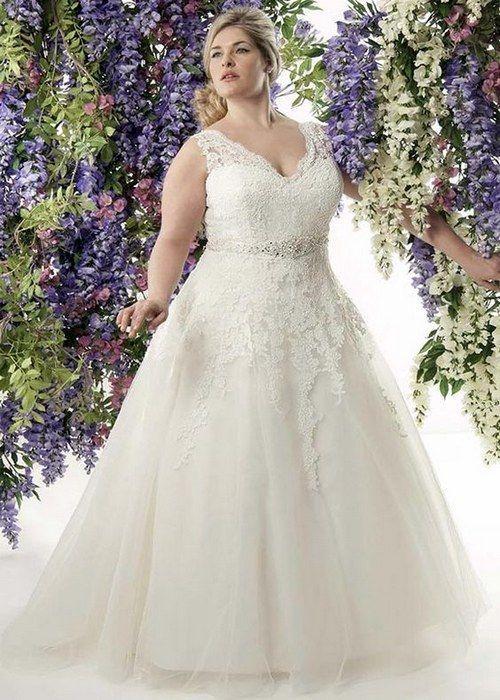 100 Gorgeous Plus-Size Wedding Dresses | Lace wedding dresses ...