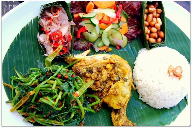 The spicy Ayam Taliwang and Pelecing Kangkung