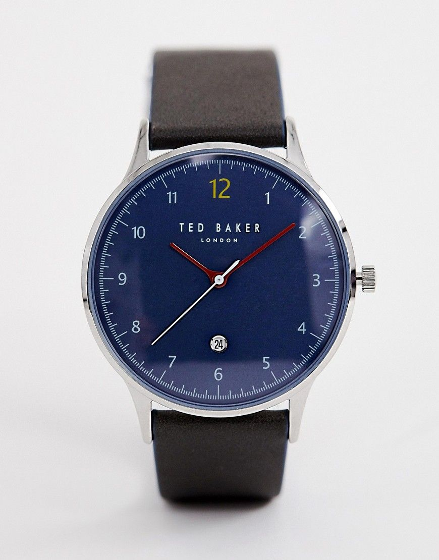 40b12237f5e775 TED BAKER ETHAN LEATHER WATCH - GREEN.  tedbaker