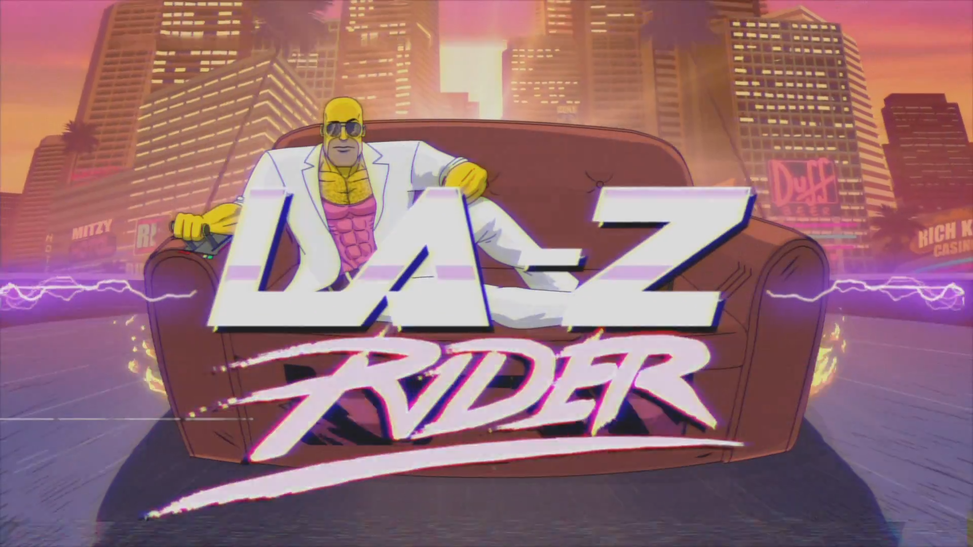 The Simpsons Couch Gag LAZ Rider Screen cap wallpapers