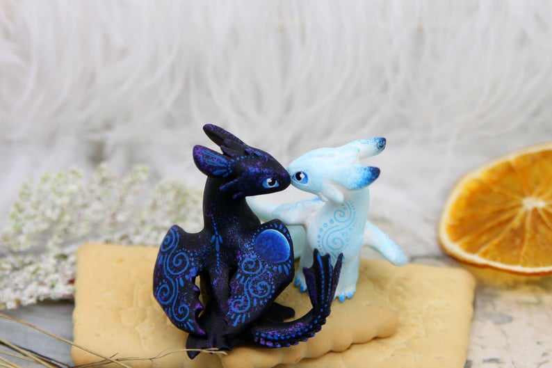 Night Light Fury Cake Topper Wedding Decor Toothless How To Etsy Wedding Cake Toppers Dragon Wedding Cake Dragon Wedding