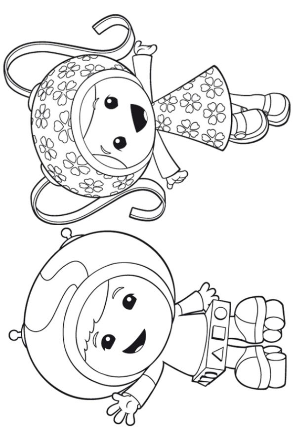 free coloring page Team Umizoomi - Geo and Milli | Coloring Pages ...