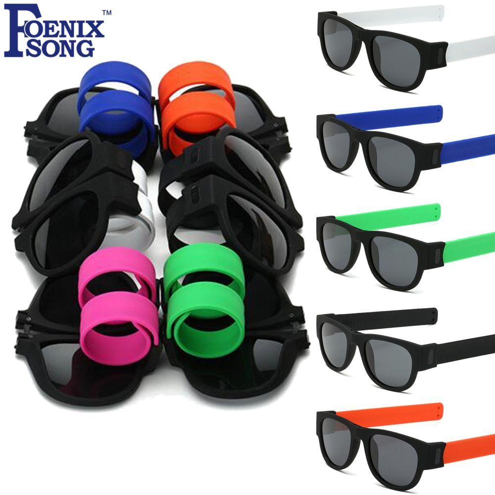 16252a9ff6 FOENIXSONG Mens Womens Polarized Sunglasses UV400 Protection Lens Folding  Frame Sun Glasses Oculos De Sol Kids Slap Eyeglasses