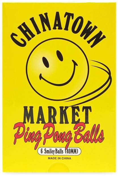 Chinatown Market Smiley Ping Pong Ball Pack Of 6 In 2020 Chinatown Smiley Ping Pong