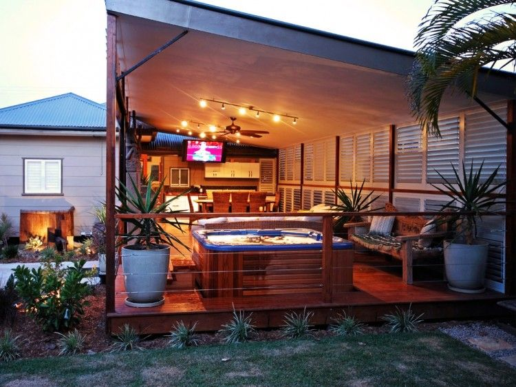 Man Cave Ideas In Garden : Awesome backyard man cave ideas men hot tubs and
