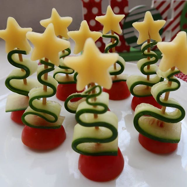 Become festive with my snacks! Christmas vegetables - #Christmas #Festive #snacks #Vegetables
