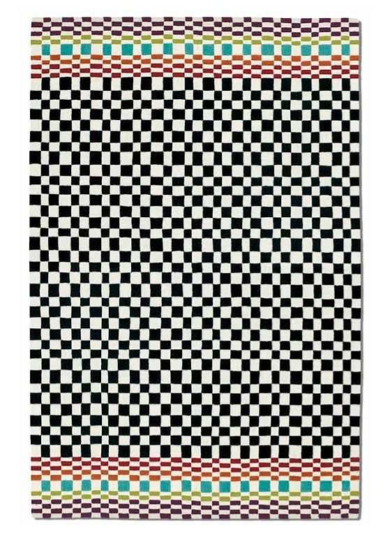 Black White Checkered Rug For The Kitchen Social Space Rugs