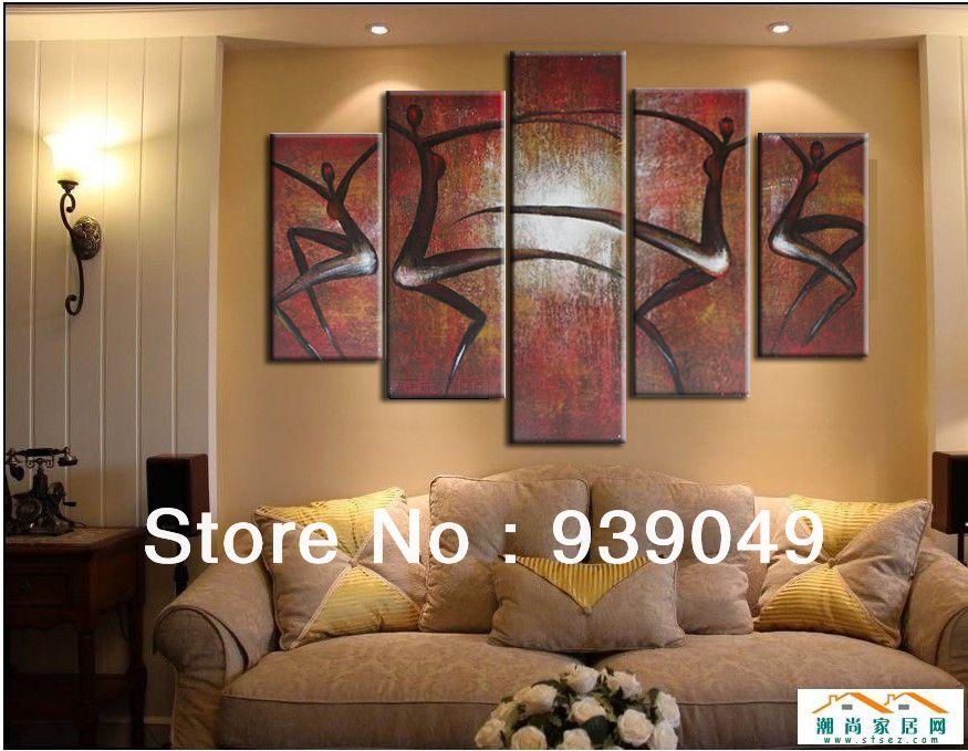 Free Shipping Large Wall Art Decor Handmade Canvas Painting Ideas ...