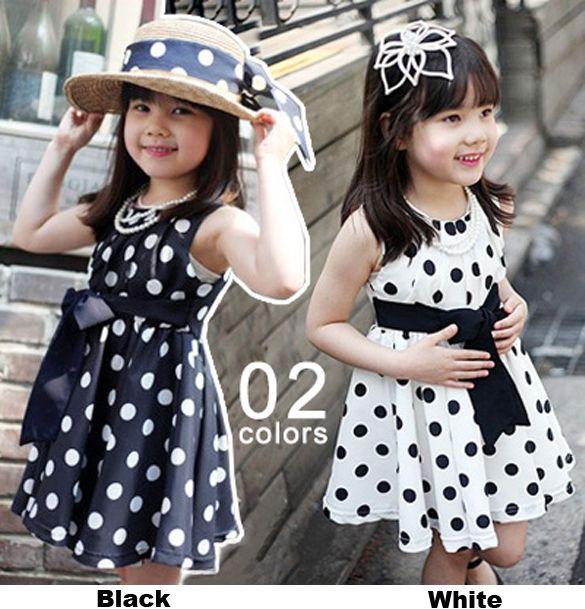 طفل اطفال بنات اللباس Bowknot أكمام منقطة قليلا الاميرة فستان للفتيات صورة فساتين الفتيات Little Girl Dresses Kids Outfits Navy Blue Dresses