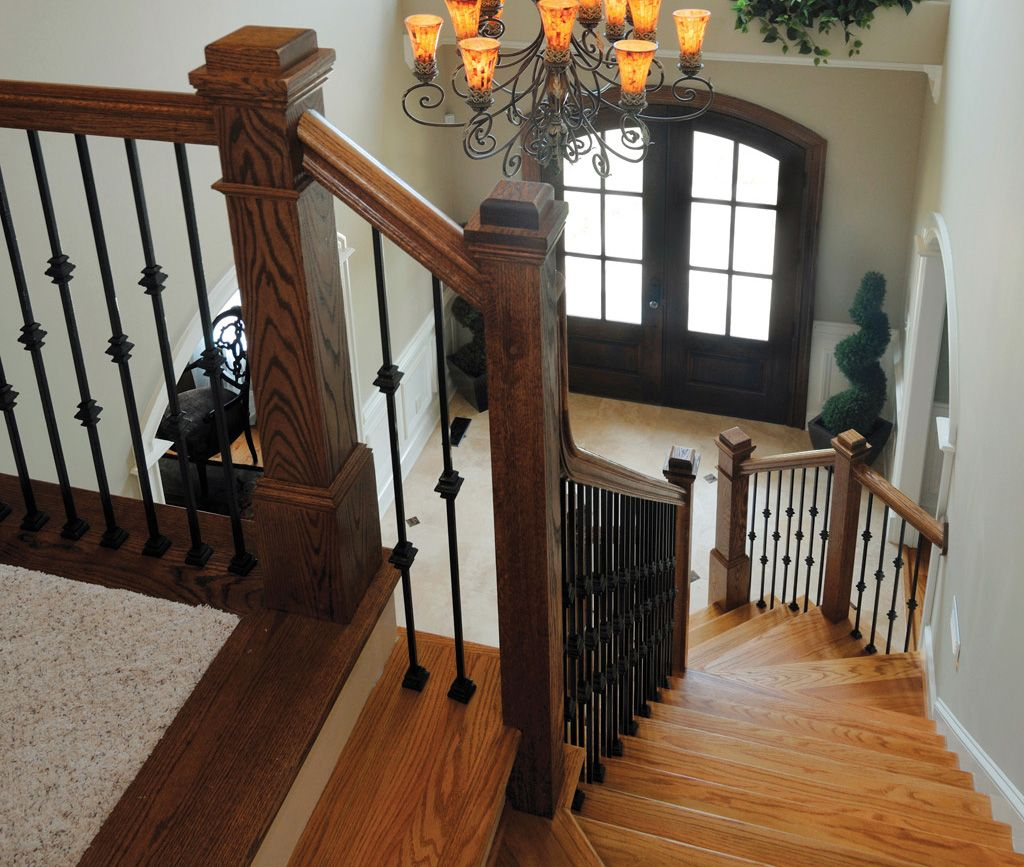Best 4091 And 4075 Box Newels With Plak 01 And 02 Balusters 400 x 300