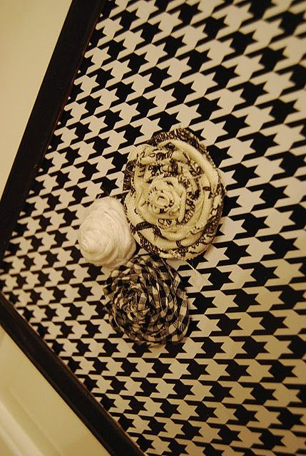 Wallpaper Covered Bulletin Board Cute Easy And Chic