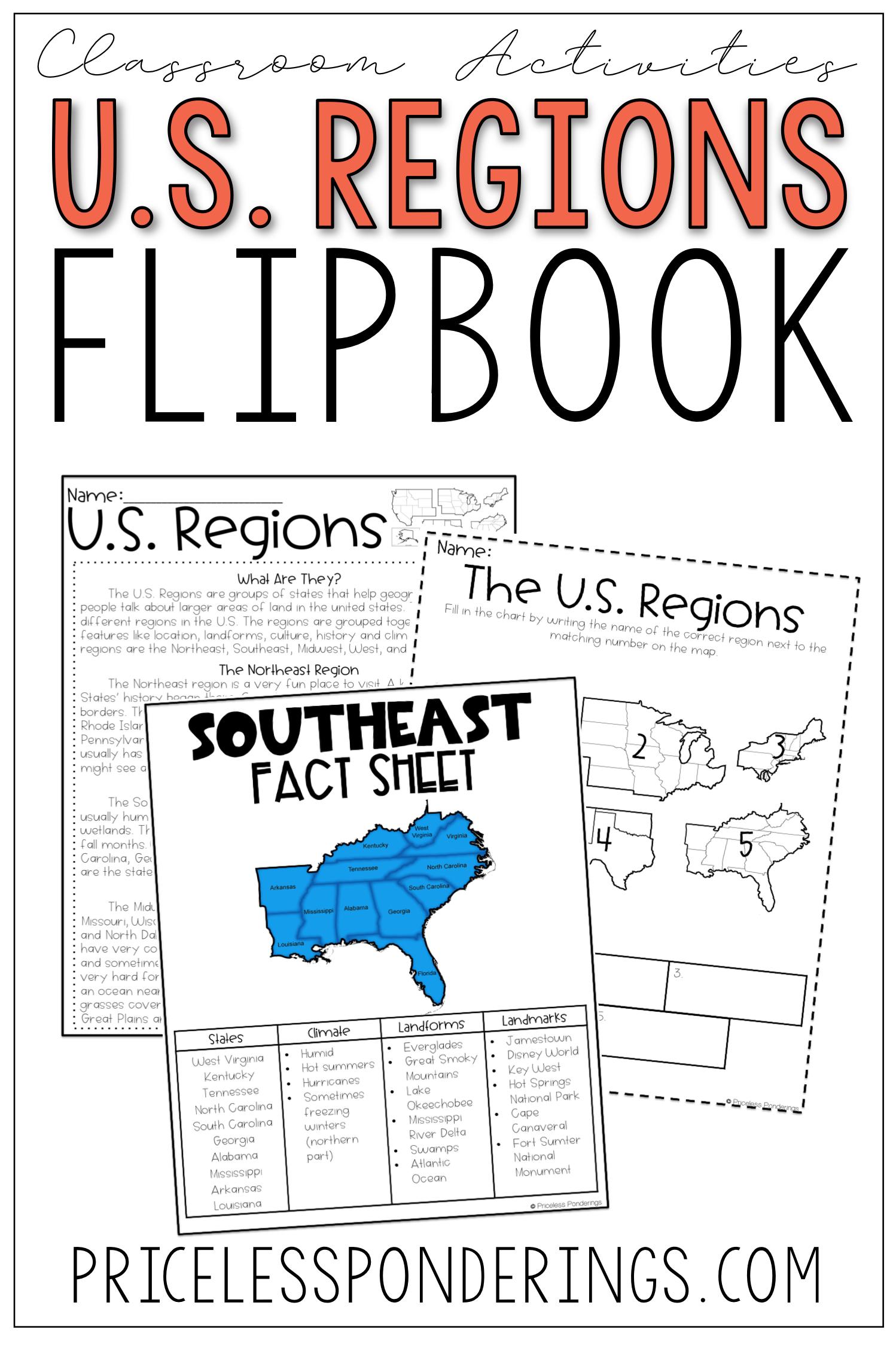 U S Regions Activities And Worksheets
