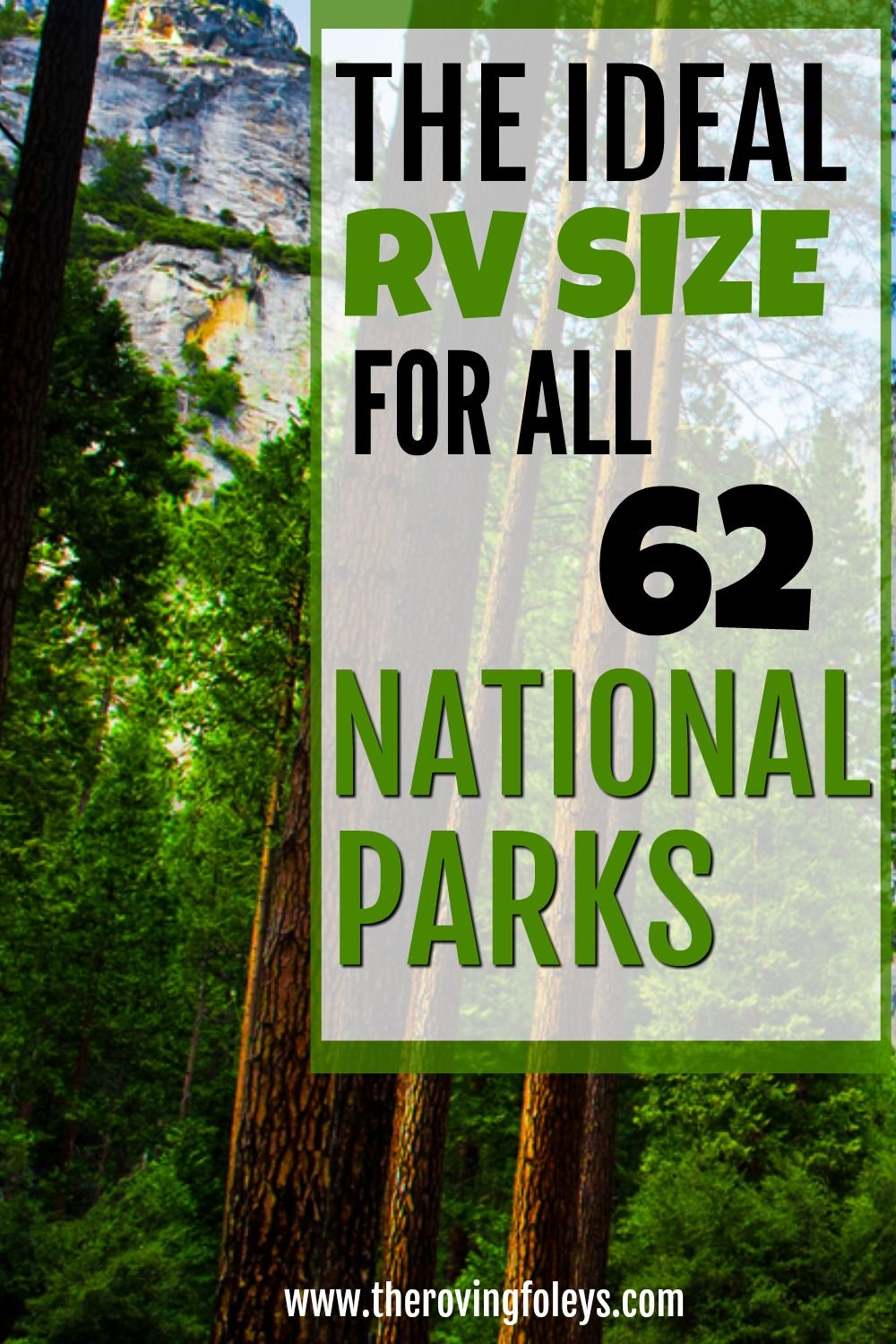 2020 Guide National Parks Rv Length Every Park The Roving Foley S In 2020 National Parks Travel Trailer Camping Utah Camping