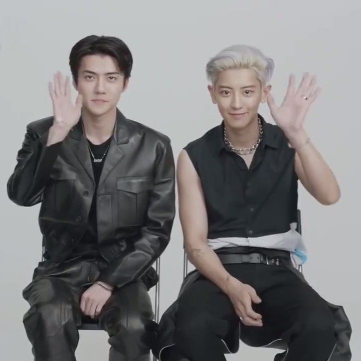"""chanyeol paved the way on Instagram: """"FUCK they look so hot but act so cute, thats a whole another level of duality • • • • @real__pcy @weareone.exo #CHANHUN #CHANYEOL #EXO_SC…"""""""
