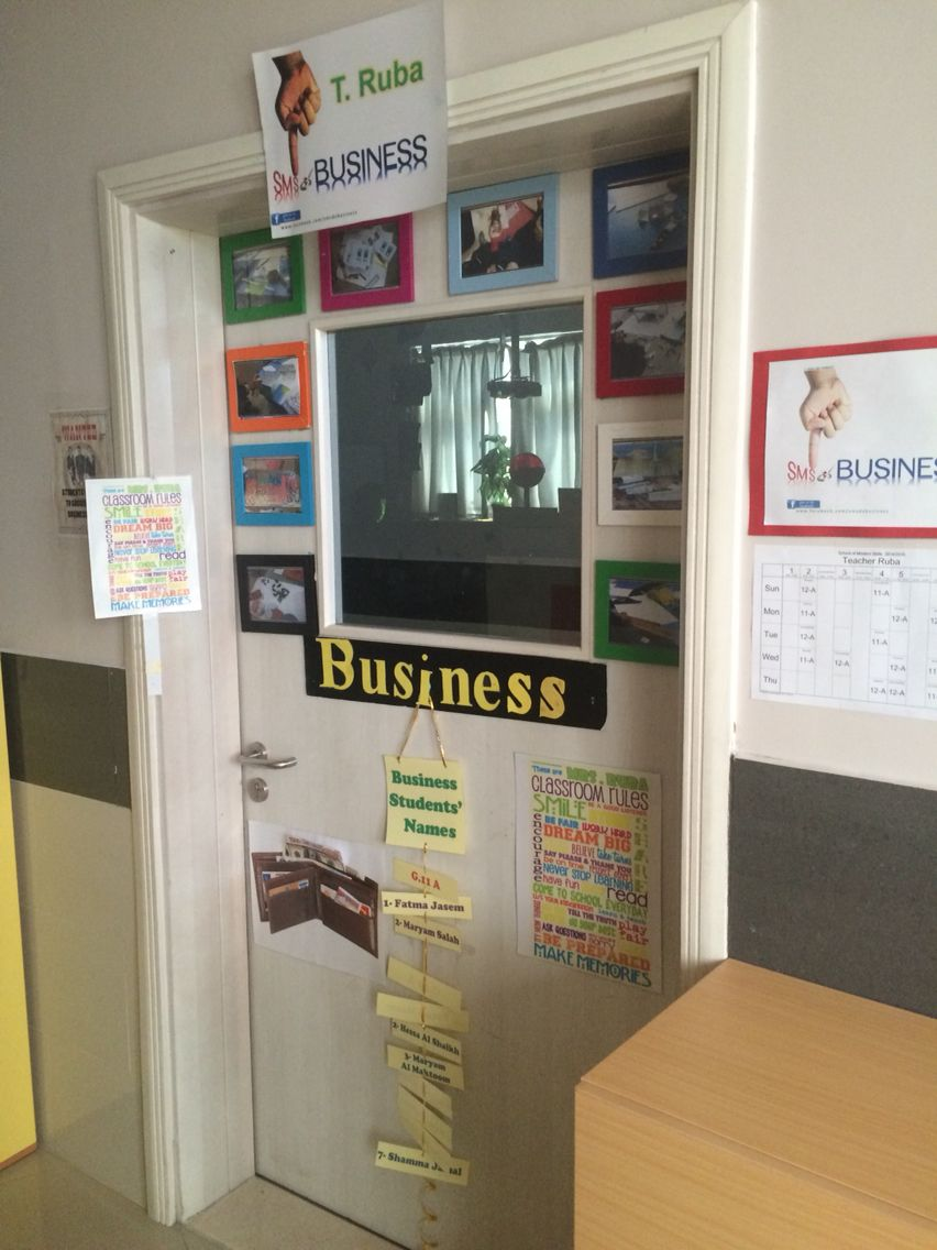 Business classroom Door