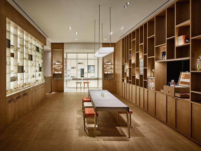 da29069640ac Hermès Perfume Library on Liberty Street, N.Y by RDAI and RF Studio  architects