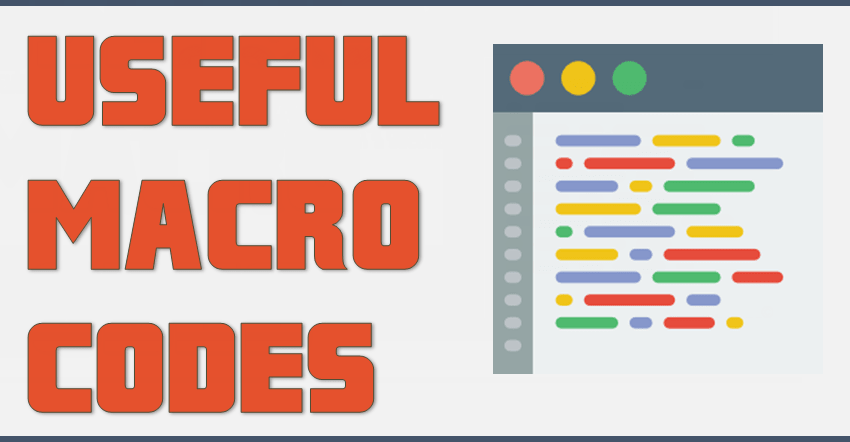 Here I have 21 Useful Macros [PDF Version] for people who