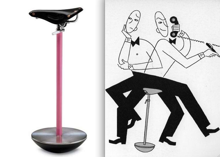 Achille Castiglioni, Sella telephone stool, 1957, for Zanotta (designed with Pier Giacomo Castiglioni).