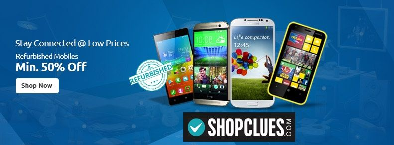 Refurbished Mobiles Minimum 50% Off Buy Now @ http://goosedeals.com/home/details/shopclues/142789.html