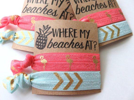 Where my beaches at Beach bachelorette party by BoldandBashful