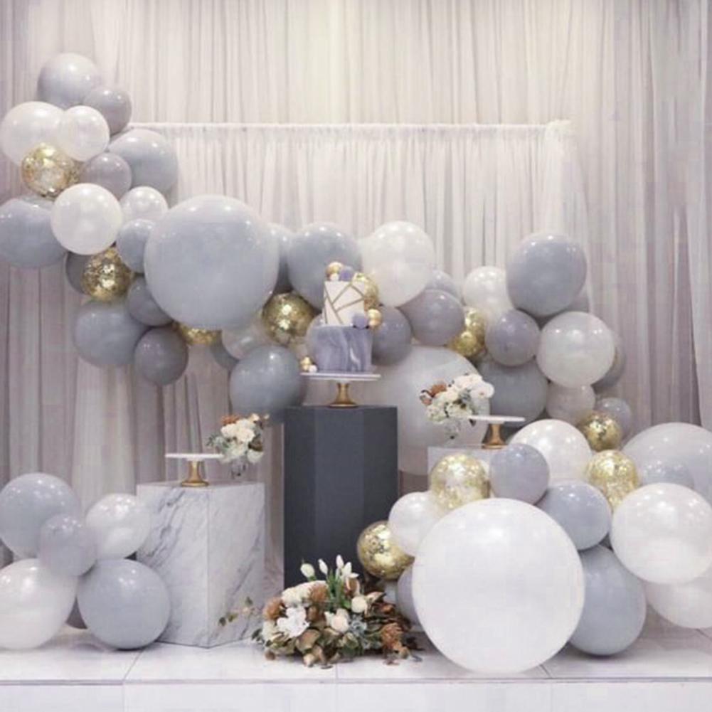 70 Pc Graue Und Weissen Ballons 12 Zoll Grau Balloons Weiss
