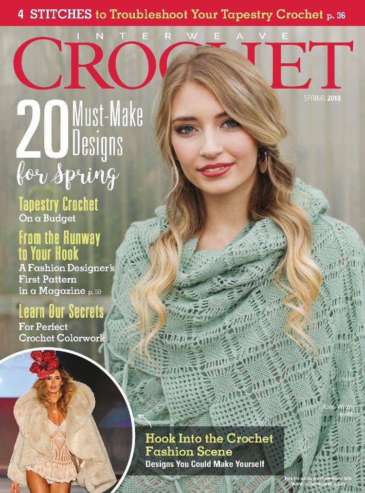 Interweave Crochet Spring 2018 轻描淡写 轻描淡写 Crochet Books