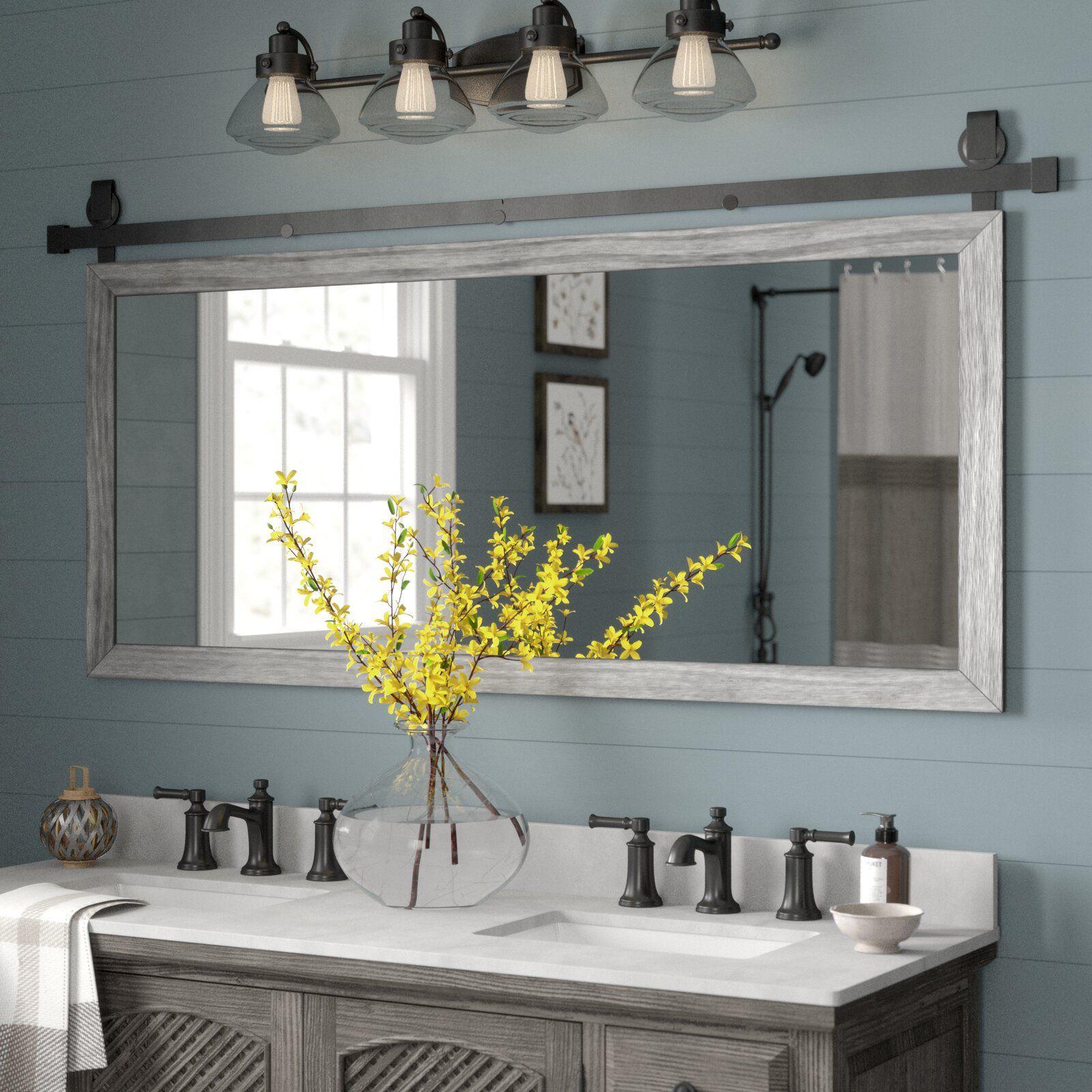 Gracie Oaks Nicholle Bathroom Vanity Mirror Wayfair Ca Bathroom Mirror Traditional Bathroom Bathroom Styling