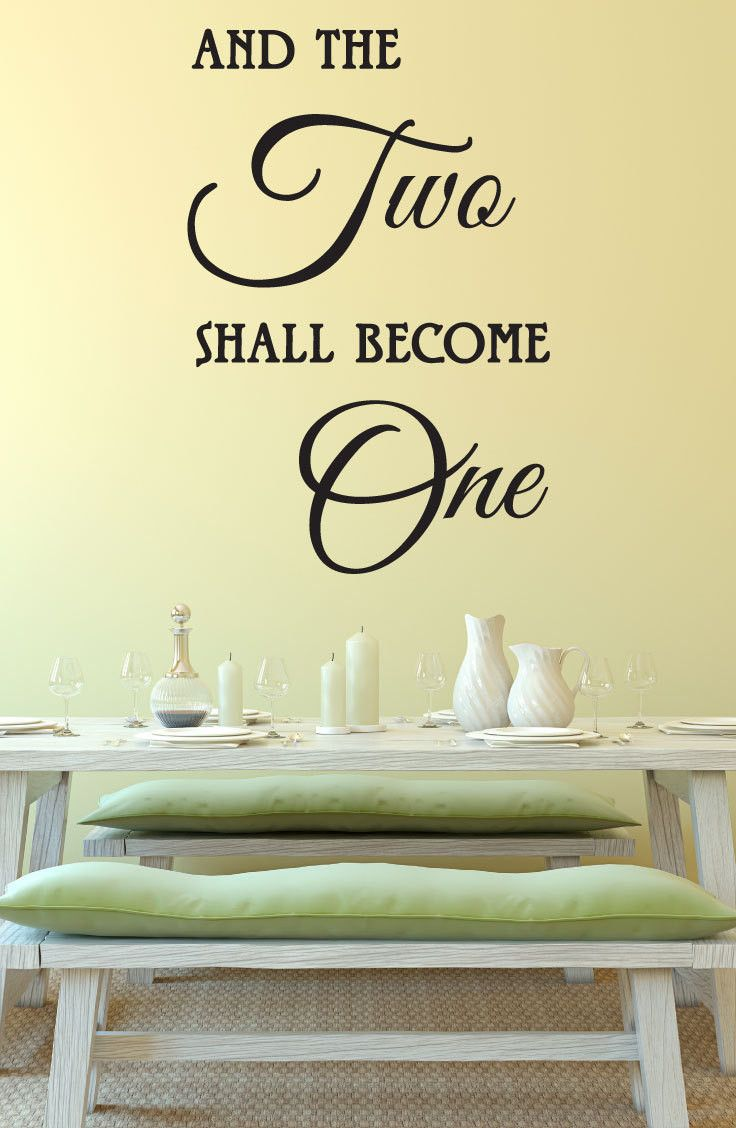 And The Two Shall Become One Wedding Decal, 0102 - Wedding Ideas ...