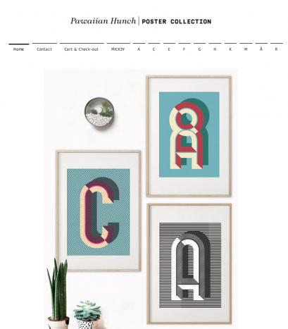 Pawaiian Hunch - Typografiske plakater