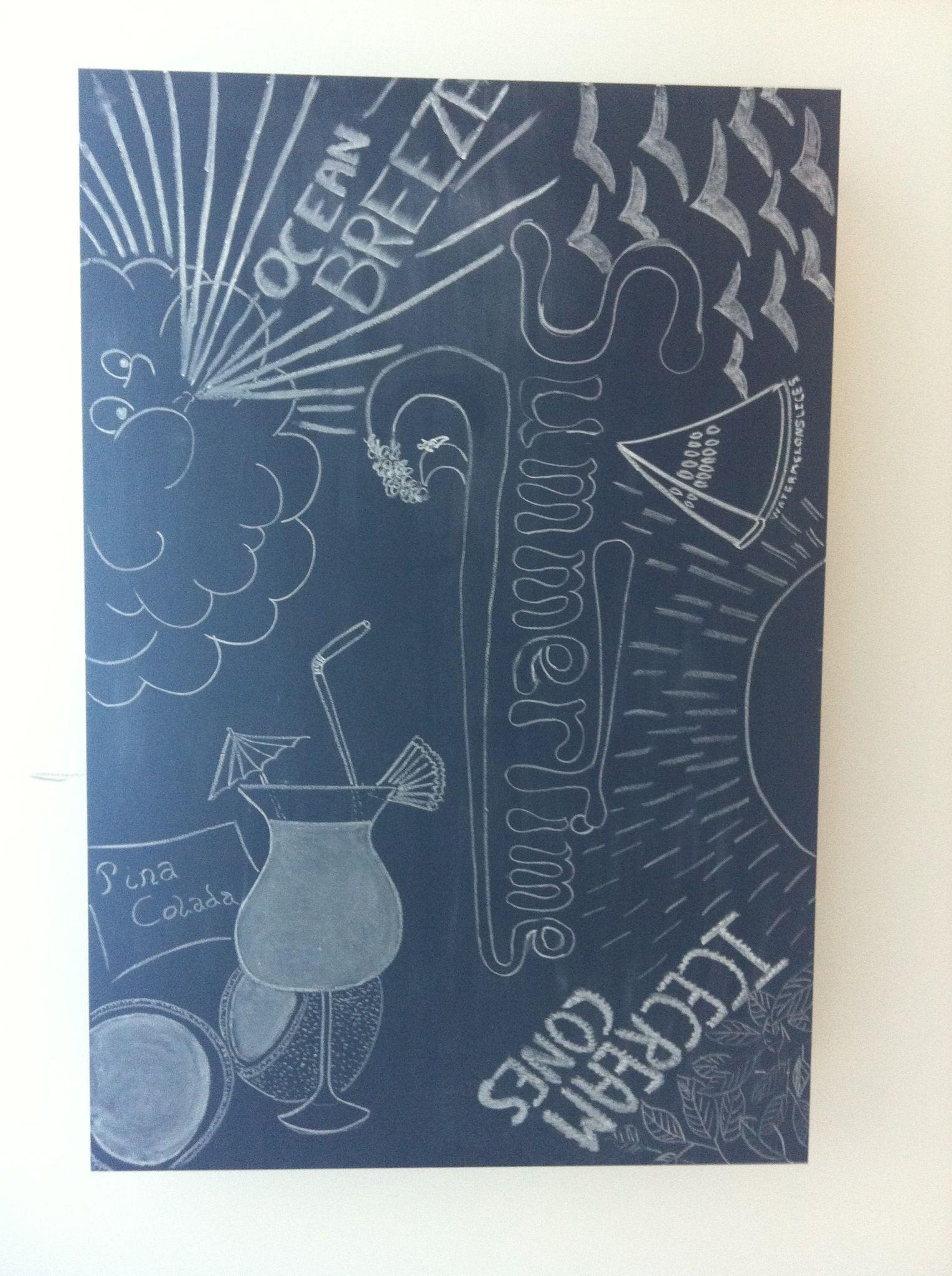 Summertime ceiling chalkboard