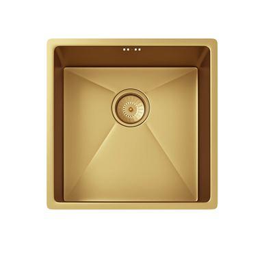 Vellamo Designer 1 5 Bowl Inset Undermount Brushed Gold Stainless Steel Kitchen Sink Waste 670 X 440mm In 2020 Stainless Steel Kitchen Stainless Steel Kitchen Sink Gold Kitchen
