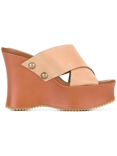 d7ae4fa910b1 SEE BY CHLOÉ wedged sandals.  seebychloé  shoes  sandals