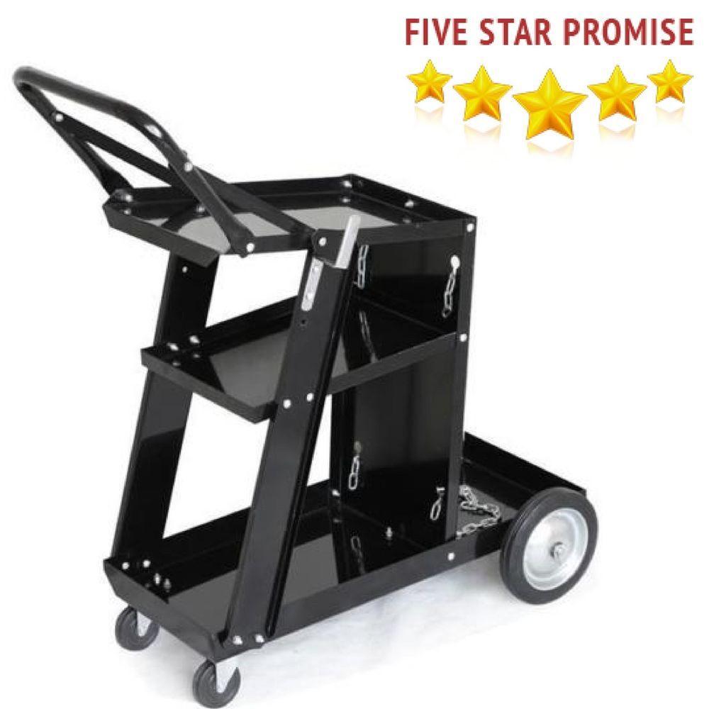 3 Tier Welding Cart Trolley For Mig Tig Arc Cutter Welder