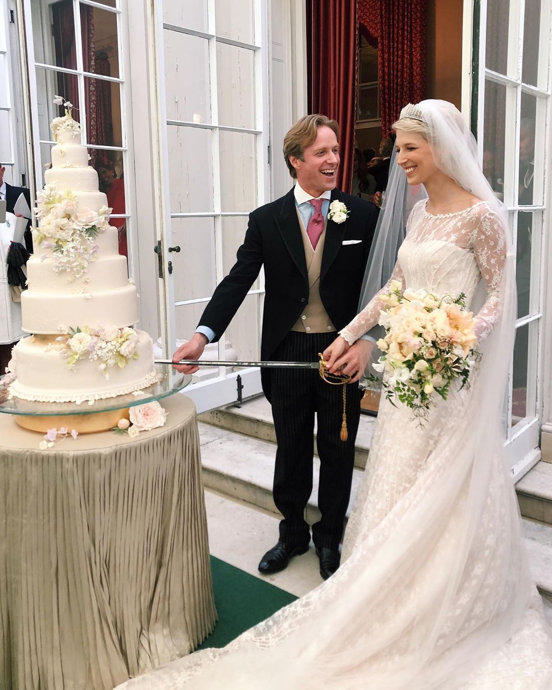 Lady Gabriella Windsor S Royal Wedding Speech See Inside Reception The Cake More Hello Royal Wedding Cake Royal Brides Royal Wedding Dress
