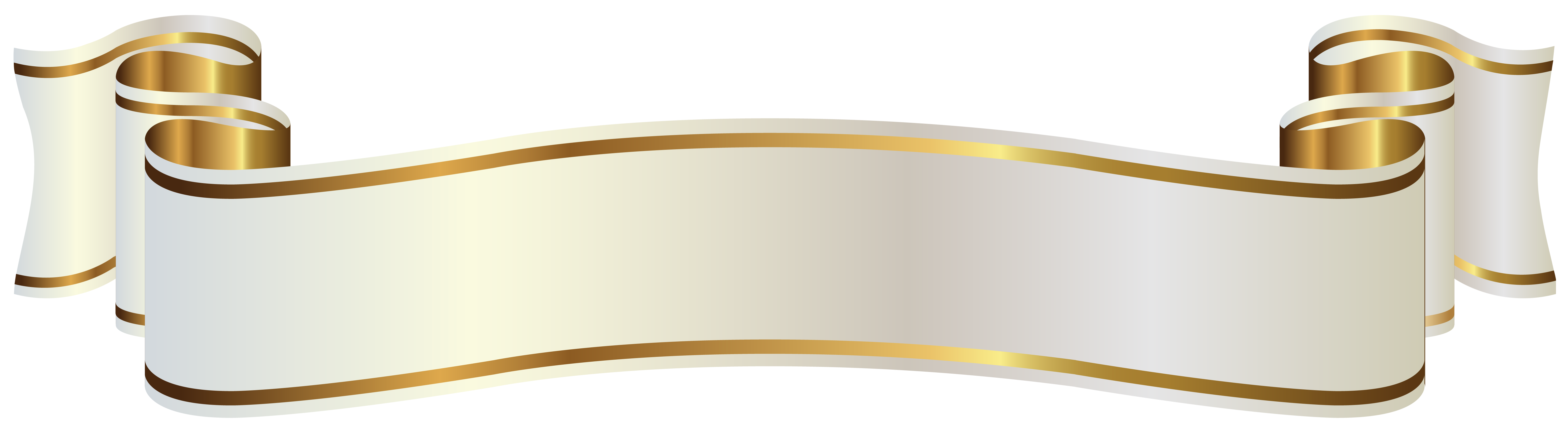White and Gold Banner PNG Clipart Image Gallery