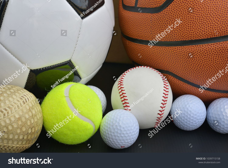 Football Soccer Ball Basketball American Football Golf Ball Baseball Tennis Ball Set On White Background Ad American Football Soccer Ball Tennis Ball