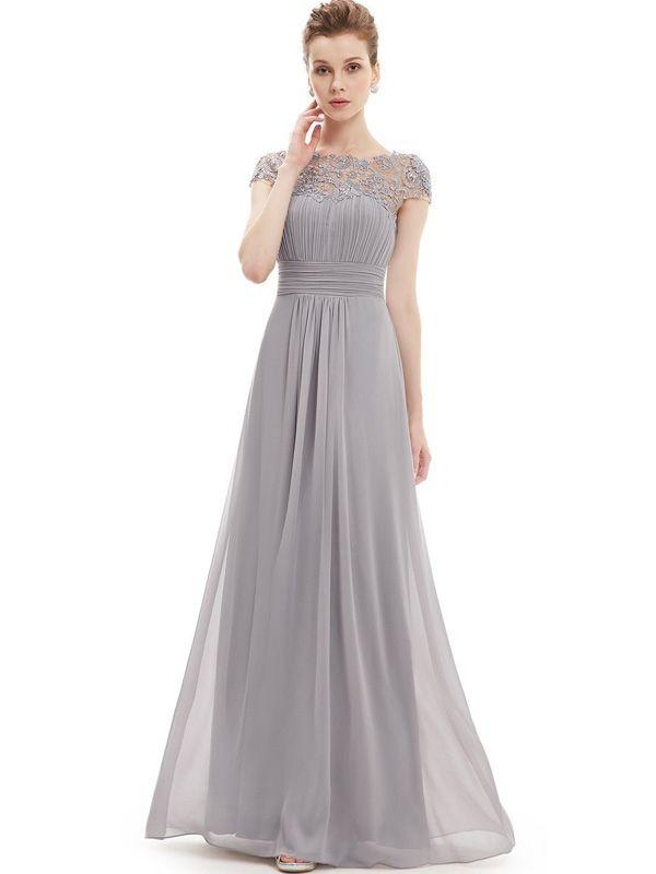 b7cc26c1304 Lace Chiffon Contrast Solid Color Sleeveless Long Dresses