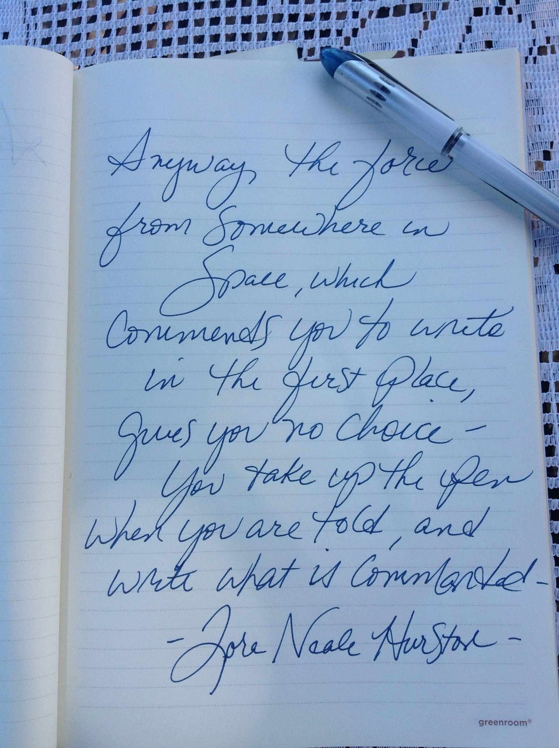 You take up the pen. Soror Zora Neale Hurston #writer # ...
