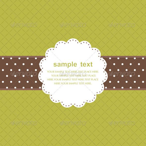 Template Frame Design For Greeting Card  Template Retro Vector