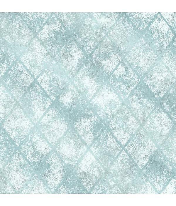 Dutch Wallcoverings Behang.Dutch Wallcoverings Reclaimed Metallic Tegel Behang Blauw Hal En