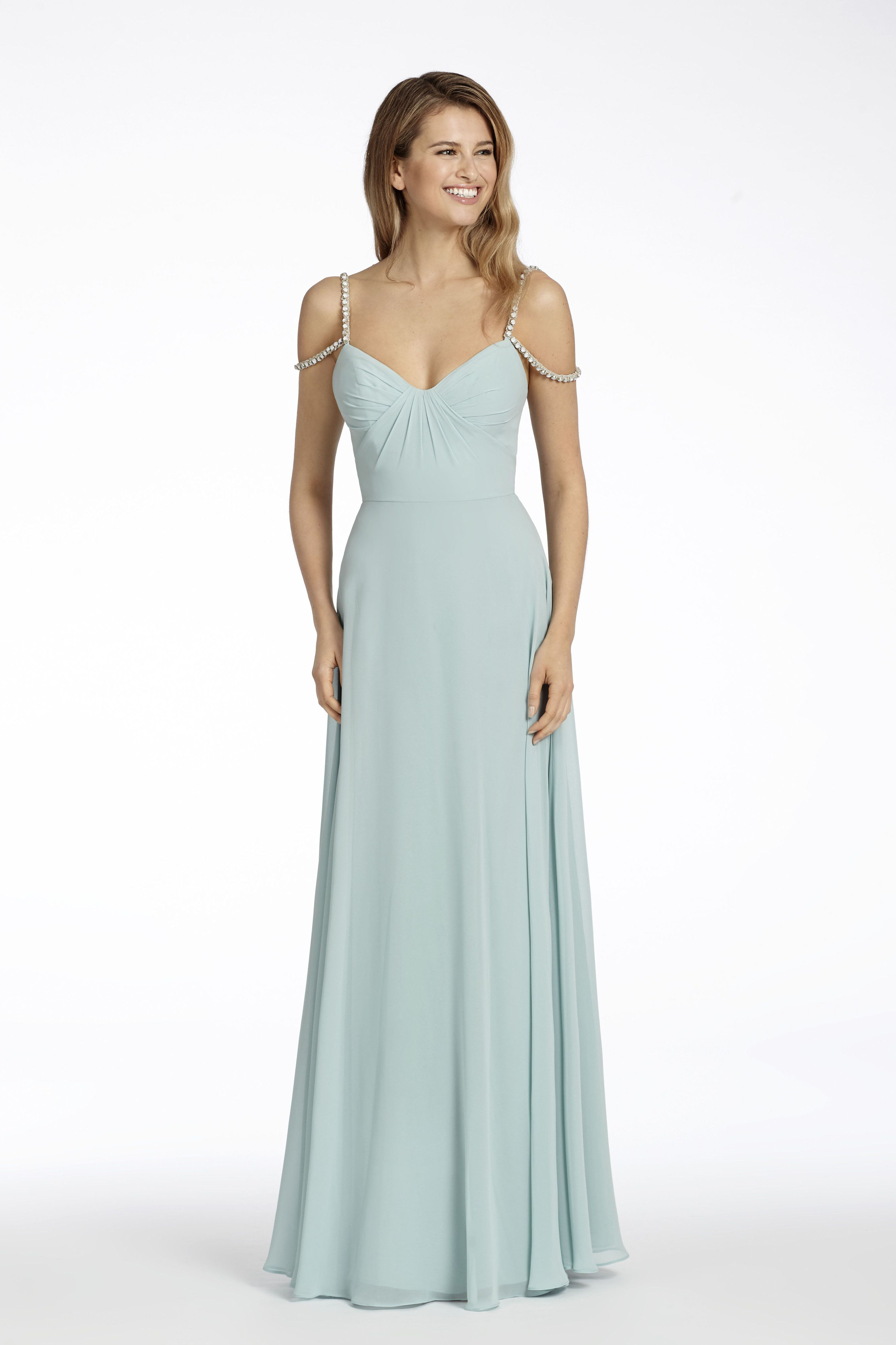 Style 5700 ice blue chiffon a line bridesmaid gown scoop draped style 5700 ice blue chiffon a line bridesmaid gown scoop draped bodice ombrellifo Image collections