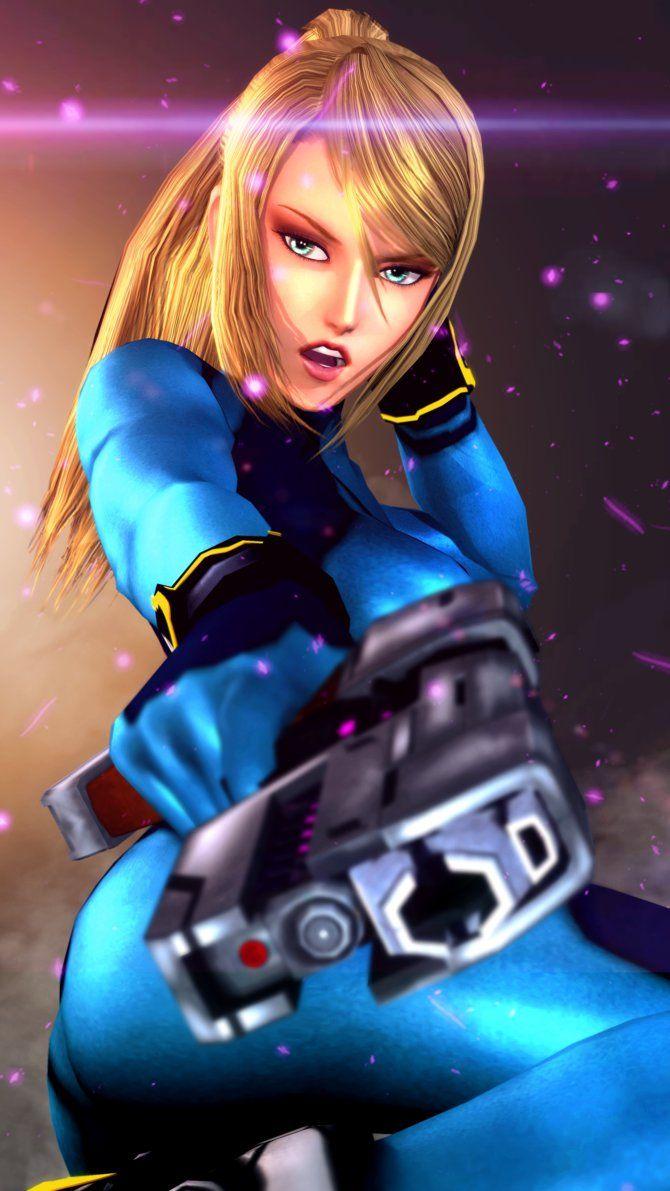 Zero Suit Samus from Super Smash Bros 4   Samus Aran ...
