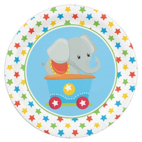 Elephant | Circus Train | Circus Themed Paper Plate  sc 1 st  Pinterest & Elephant | Circus Train | Circus Themed Paper Plate | Circus train ...