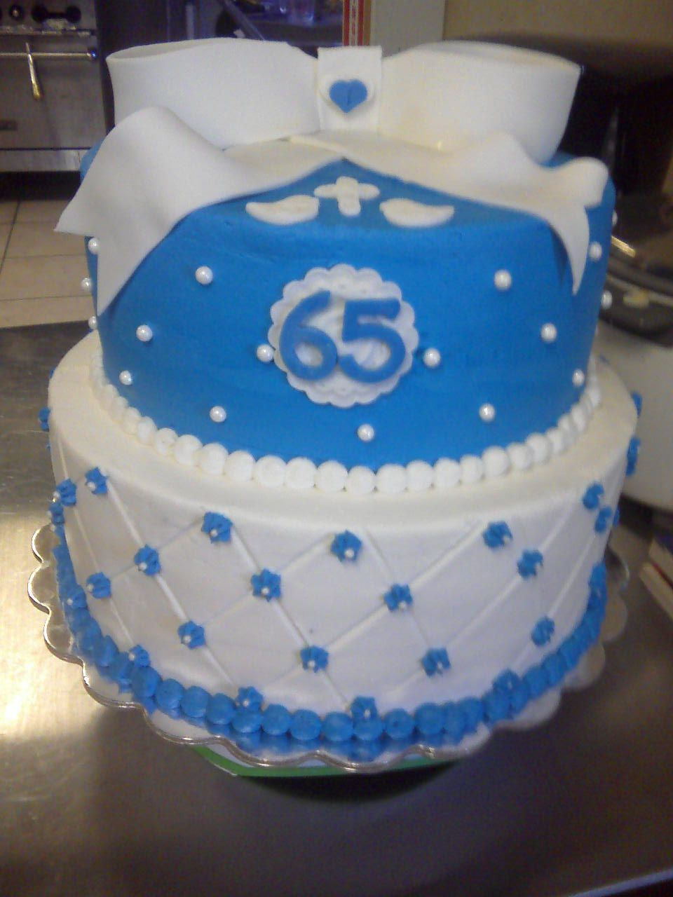 65th Wedding Anniversary Cake for a very special family