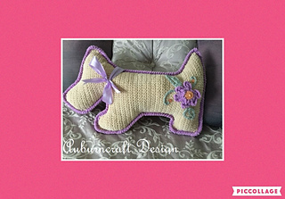 Only One Woof Cushion pattern by Sue Stapleton #slipstitch
