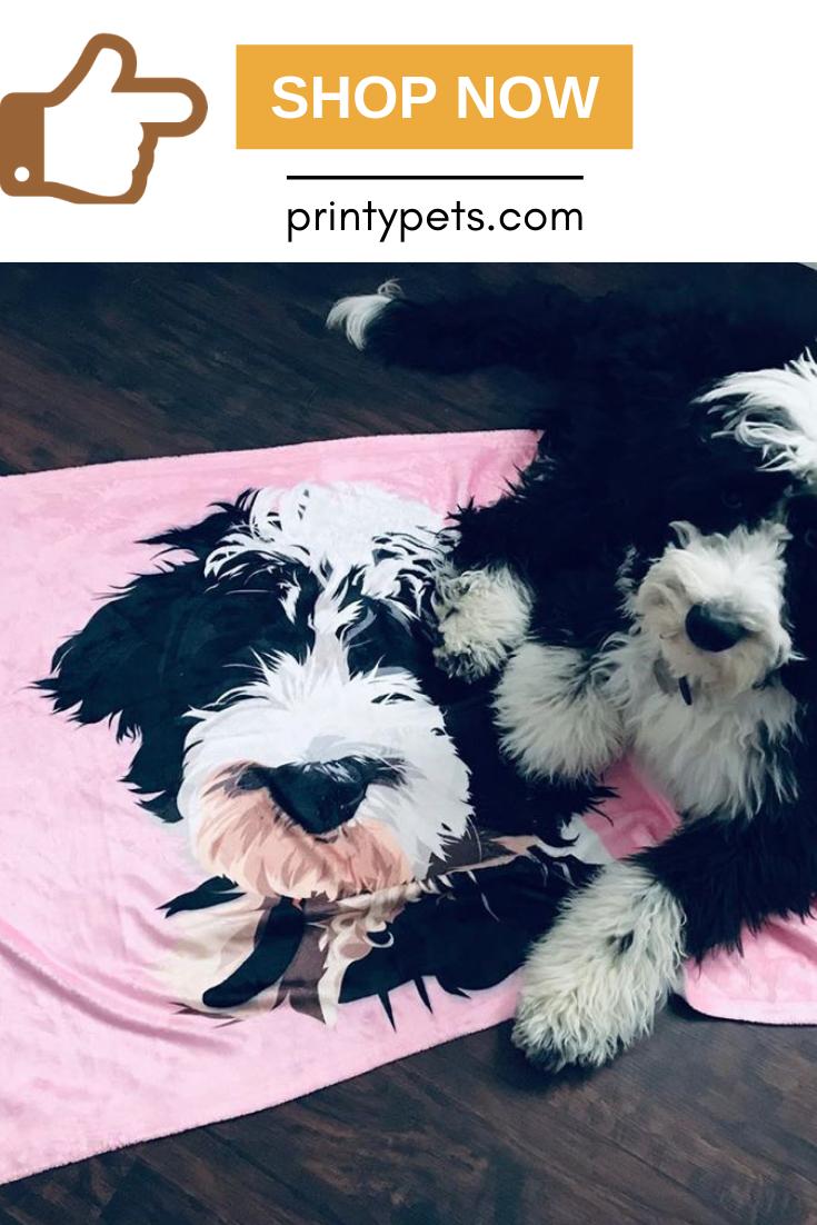 Custom Pet Print Fleece Blanket Pets Puppy Beds Fleece Blanket